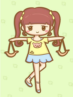 天秤座女生性格图片